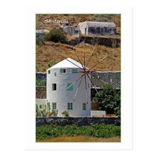 Postal Molino de viento de Santorini