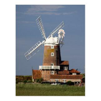 Postal Molino de viento en Cley, Norfolk del norte