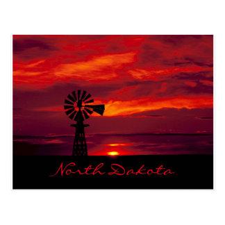 """Postal Molino de viento hermoso de """"Dakota del Norte"""" en"""