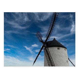 Postal molino de viento Negro-blanco