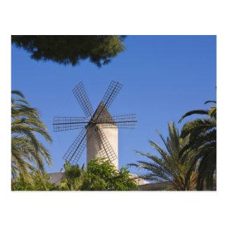 Postal Molino de viento, Palma, Mallorca, España