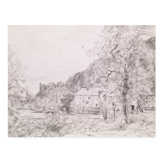 Postal Molino y castillo, 1835 de Arundel (dibujo)