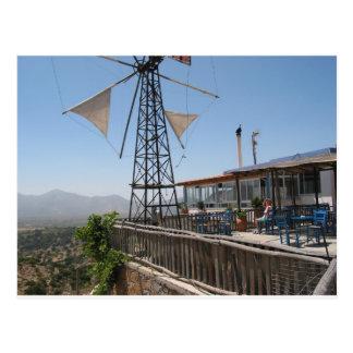 Postal Molinoes de viento de Creta