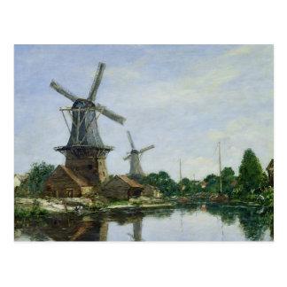 Postal Molinoes de viento holandeses, 1884