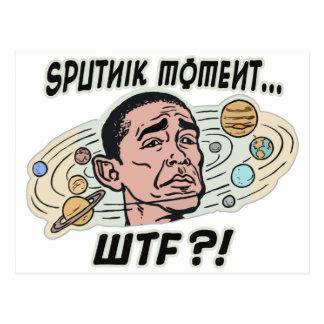 Postal Momento divertido de Obama Sputnik