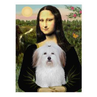 Postal Mona Lisa - algodón De Tulear
