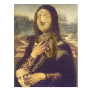 Postal Mona Lisa indecisa