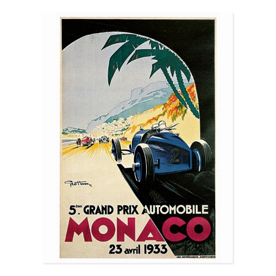 Postal Monaco Racing Vintage