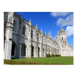 Postal Monasterio de Jeronimos en Belem, Lisboa, Portugal