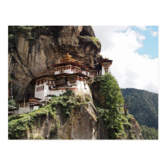 Postal Monasterio de Taktsang (la jerarquía del tigre) en