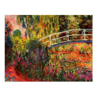 Postal Monet - charca del lirio de agua, iris del agua