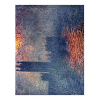 Postal Monet, Claude Das Parlament en Londres Techniq