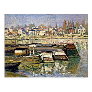 Postal Monet - el Sena en Asnieres