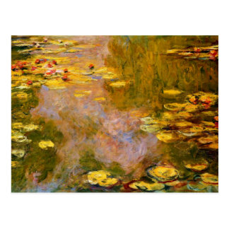 Postal Monet - la charca del lirio de agua, cojines de