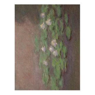 Postal Monet sumario, primer de la charca del lirio de