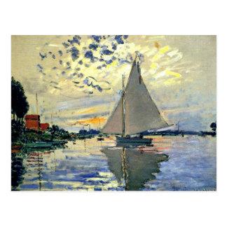 Postal Monet - velero en Le Pequeno-Gennevilliers
