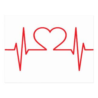 Postal Monitor del pulso del corazón
