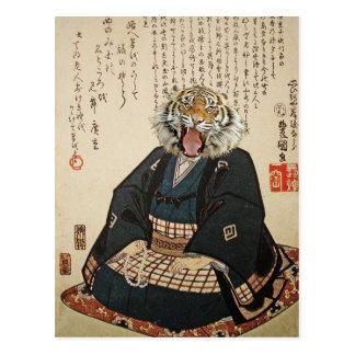 Postal Monje del tigre Meditating