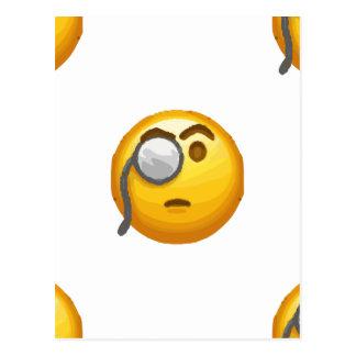 Postal monóculo del emoji