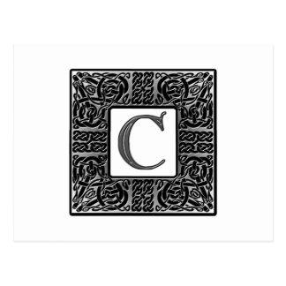 """Postal Monograma de plata del Celtic """"C"""""""