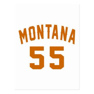Postal Montana 55 diseños del cumpleaños