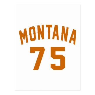 Postal Montana 75 diseños del cumpleaños