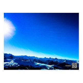 Postal Montaña azul