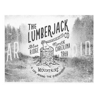 Postal Montaña Carolina del Norte del bosque del leñador