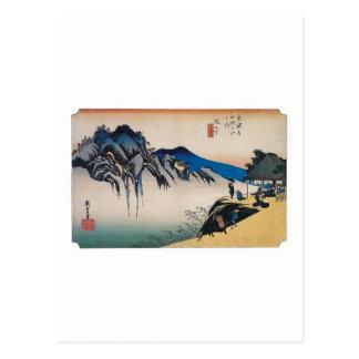 Postal Montaña de Fudesute, Japón circa 1800's