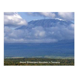 Postal Montaña del monte Kilimanjaro en la diversión de