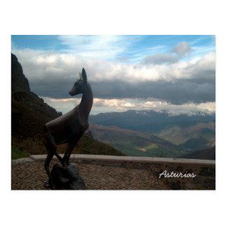 Postal Montañas asturianas, España