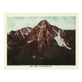 Postal Montañas de Colorado del vintage