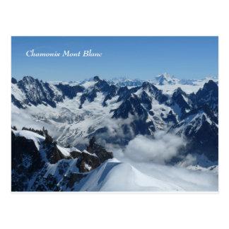 Postal Montañas del francés de Chamonix Mont Blanc