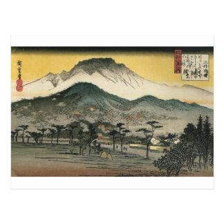 Postal Montañas japonesas circa 1800's