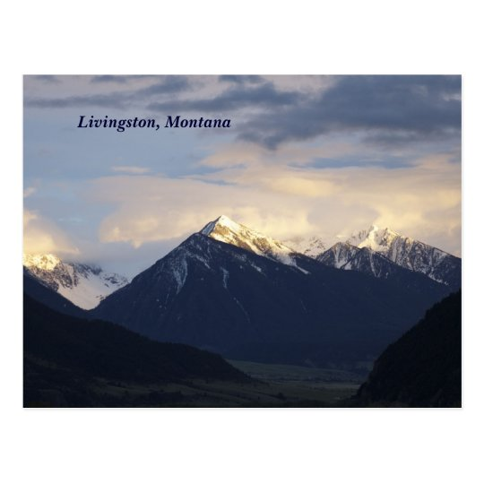 Postal montañas, Livingston, Montana