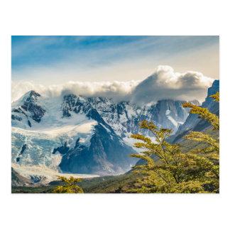Postal Montañas Nevado los Andes, EL Chalten la Argentina