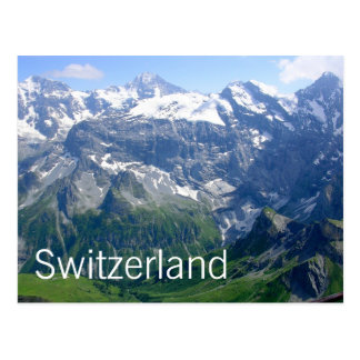 Postal Montañas suizas