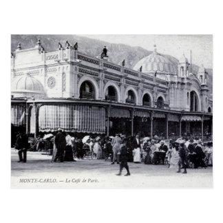 Postal, Monte Carlo, café de París Postal