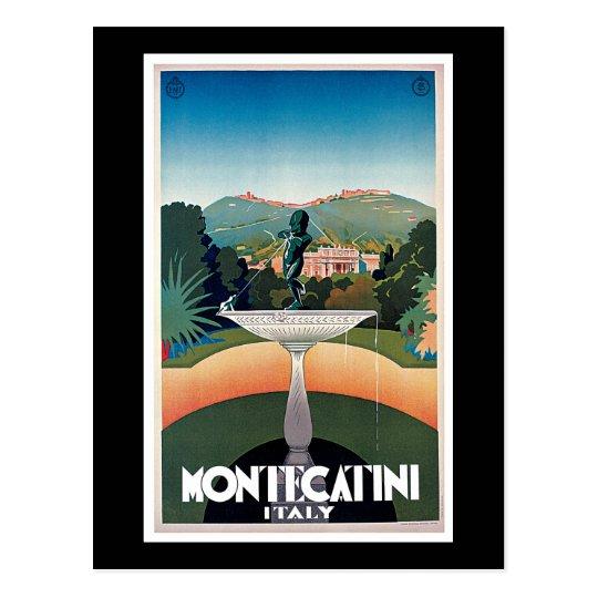 Postal Montecatini, poster del viaje del vintage de