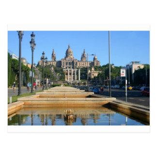 Postal Montjuic, Barcelona, españa