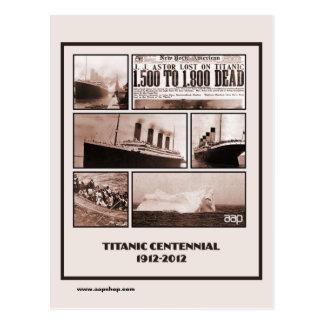 Postal Monumento centenario titánico 1912-2012