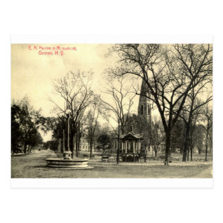 Postal Monumento de Harriman, vintage 1916 de Goshen NY