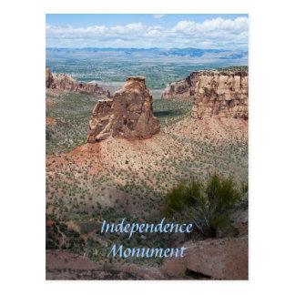 Postal Monumento de la independencia y el valle magnífico