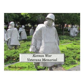 Postal Monumento de los veteranos de Guerra de Corea -
