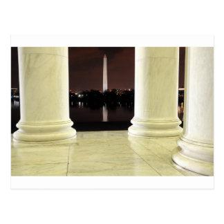 Postal Monumento de Thomas Jefferson en la noche