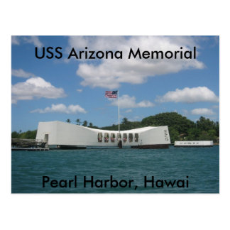 Postal Monumento de USS Arizona, Pearl Harbor, Hawai