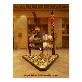 Postal Monumento del monumento del ferrocarril 911 de