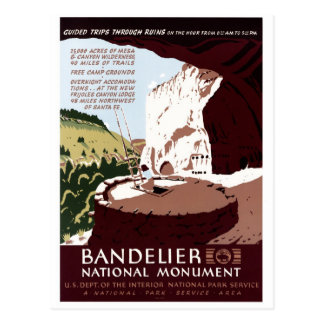 Postal Monumento nacional de Bandelier