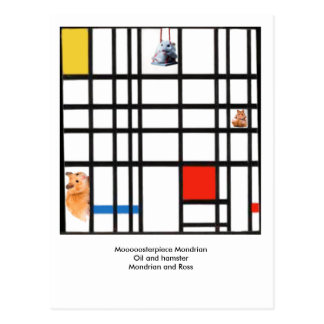 Postal Moooooosterpiece Mondrian