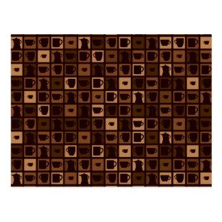 Postal Mosaico enrrollado del café